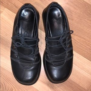 Dansko lace-up black leather mules size 39/9